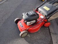 Castle Petrol Lawnmower 4hp Briggs & Stratton Engine - Rear Roller - Self Drive - Serviced - £69.00