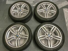 "Genuine BMW F10 19"" 351 Staggered Alloys (professionally refurbed) and Almost New Tyres with TPMS"