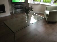 Strengthened glass coffee table