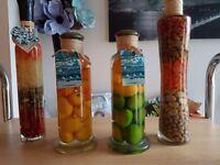 Glass kitchen bottles