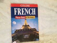 French Phrase Book & Dictionary Study Travel GCSE A Level