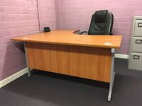 Office Desk with matching pedestal - like new, immaculate, high quality