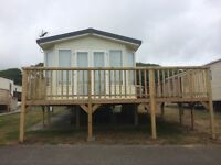 6 berth static caravan for sale at Haven site Lydstep.