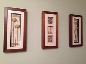 Next set of 3 wooden frames