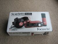 NEW Focusrite Scarlett Studio Home Recording Package Audio Interface headphones mic CHRISTMAS GIFT