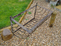 Old iron manger - ideal as wall mounted planter