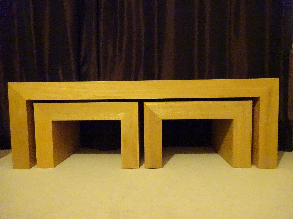 Coffee table with nest of tables ex Next