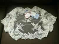 Ivory lace bolero jacket size 14