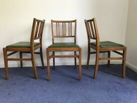 Set of 5 dinning chairs Vintage