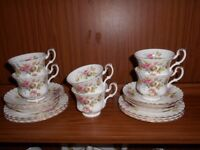 Royal Albert 18 piece Bone China Tea Set