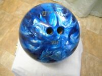 Large ebonite bowling ball