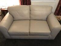 Next 2 seater leather Sofa