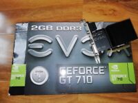 EVGA NVidia GeForce GT 710 2GB DDR3 - Triple Display Graphics Adapter