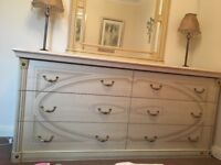 Stunning Italian chest of drawers with matching mirror.