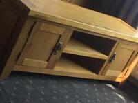 Solid oak tv cabinet rustic
