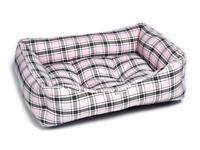 Brand New - Pink Tartan Luxury Sofa Pet Dog Bed (Large)