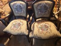 Pair or Reproduction Louis XVI Style Chairs