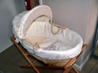 Mamas and Papas Moses basket and wooden stand