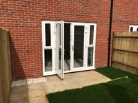 Beige patio slabs, BRAND NEW, lifted from new build garden