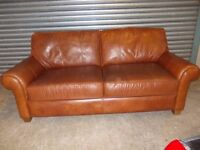 Chestnut Brown Full Hide Leather 3-1-1 Suite