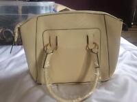 Large cream handbag