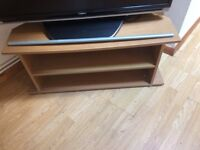 Pine effect tv stand
