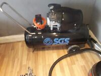 Sgs 100 litre air compressor twin motor only used twice