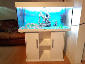 WHITE JUWEL RIO 180 LITER FISH TANK AND STAND FOR SALE,