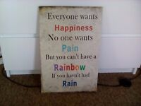 Shabby Chic Solid Wood Vintage Retro Saying Quote Picture Wall