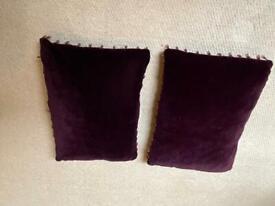 Pair of purple cushions
