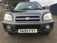 Reg.07/09/2005 HYUNDAI SANTA FE 2.0 DIESEL 4X4 TOP OF THE RANGE,NEW TYRES,MOT,WARRANTY,MUST BE SEEN