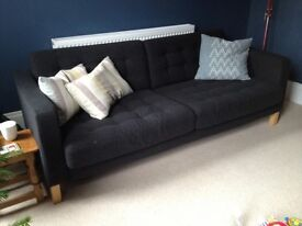 Lovely charcoal 3 seater sofa and armchair