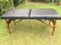 Portable Massage table immaculate condition, comes with carry case