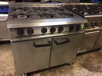 Falcon 6 Burner Oven Range Natural gas/ Stainless steel