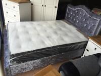Brand new***Kimberley double crushed velvet bed frames ONLY £199
