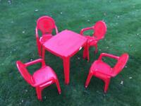 Children's Table & 4 Chairs