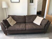 Large three seater Brown sofa (M&S)