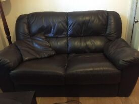 Leather sofa for 2