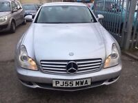 MERCEDES CLS 2006 320 3.0 DIESEL AUTOMATIC CDI 7 G RED LEATHER SATNAV FULL HISTORY