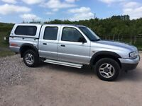 Mazda B2500 Pick up truck with crew cab and box
