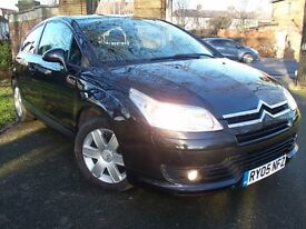 Citroen C4 VTR 1.4 Coupe, Black, 2005, Brand New Mot, Only 2 Owners, Good Condition, Drives Well
