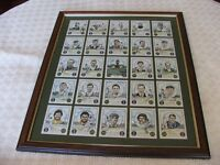 FRAMED ACHES WINNING CRICKET CAPTAINS ENGLAND & AUSTRALIA