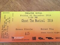 2 tickets for Ghost The Musical at Nottingham Theatre Royal Fri 2nd Dec dress circle row A