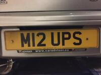 Private/Cherished Number Plate Reg M12 UPS (MR UPS, OOPS, UPS, MR) Numberplate