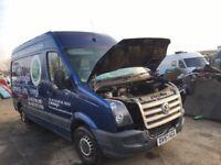 Volkswagen crafter van breaking bumper bonnet wing light radiator ecu set