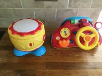 Children's drum and car