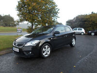 KIA PRO CEED 2 DIESEL HATCHBACK STUNNING BLACK 2011 ONLY 37K MILES BARGAIN 4750 *LOOK* PX/DELIVERY