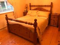 """Solid pine double bed 4ft6"""""""