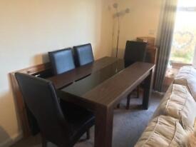 High quality table and 4 faux leather chairs