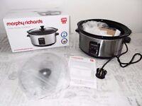 Morphy Richards Oval Slow Cooker 3.5 L Ceramic Pot